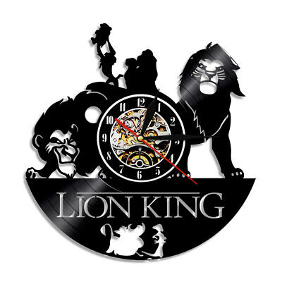 Lion King 3D Art Deco Classic Personalized 12Inch Vinyl Record Wall Clock