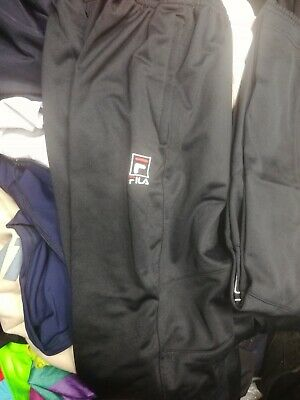 fila TRACK SUIT PANTS in sports man polyester in size 24 to 26 2 inch at£9 each