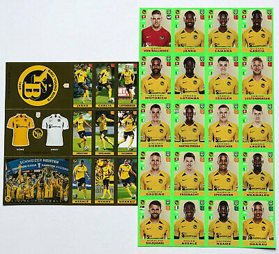 PANINI FIFA 365 2020 Swiss Edition Set 16 YB / Young Boys Extra Stickers H1-H16