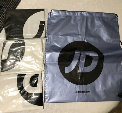 4x JD SPORTS DRAWSTRING BAGS FOR SCHOOL / GYM / CASUAL