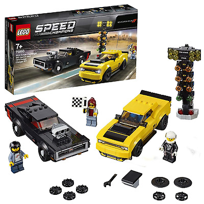 LEGO 75893 Speed Champions 2018 Dodge Challenger SRT Demon and 1970 Driver Race