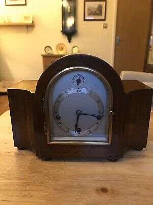 Miniature Westminster Chimes Clock By Gustav Becker Spares Fully Working Order