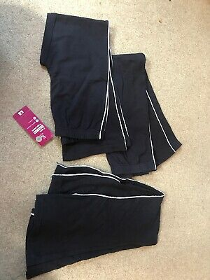 Tu Girls Navy Yoga Pants Age 8 & 9 1X BNWT 2 Used But Ex Con Jogging Bottoms Sch