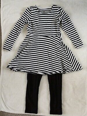 Girls Dress And Leggings Outfit. Age 6-7 Years