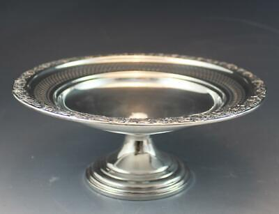 Antique Sterling Silver Weighted & Reticulated Compote or Small Basket