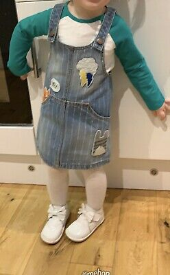 Girls Next Top And Denim Pinafore Outfit 1.5 -2yrs