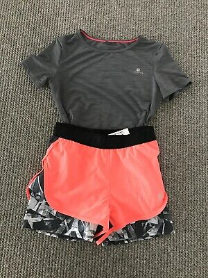Decathlon Girls Shorts & Top Age 12 Years