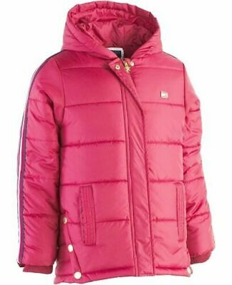 Tommy Hilfiger Girls Hooded Puffer Jacket Pink Size 4 Years New with Tags