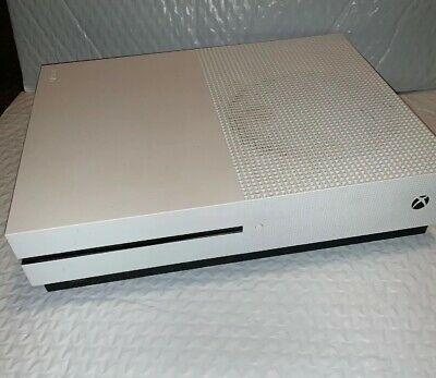 Microsoft Xbox One S 1681 500GB Gaming Console ONLY, White-GOOD COND.(#912)