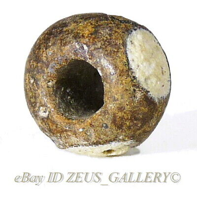Ancient Black White MAGIC Evil EYE Glass Bead Amulet Talisman Ex Bonhams London