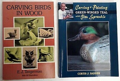 2 Books On Carving Birds In Wood And How To Paint