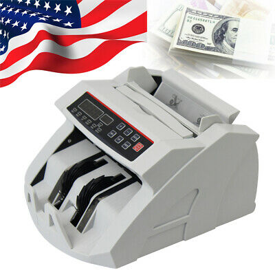 Bill Counter Money Counting Cash Machine Counterfeit Detector UV MG Bank LCD FDA
