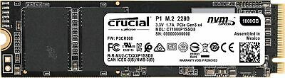 CRUCIAL P1 M.2 2280 NVME/PCIE SSD 2,000MB/s Read 1 TB SOLID STATE DRIVE NEW AU