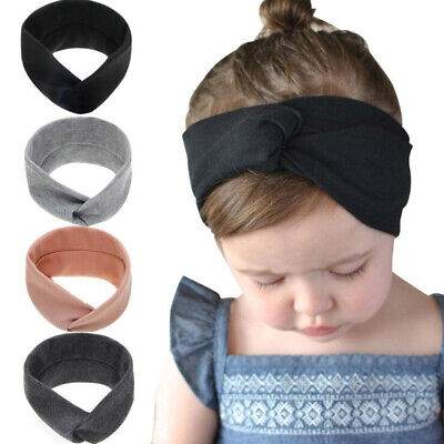 Newborn Toddler Kid Baby Girls Solid Knot Turban Headband Headwear t