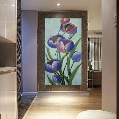 Modern Abstract Art Canvas Hand Painted Oil Painting Wall Art Framed - Tulip