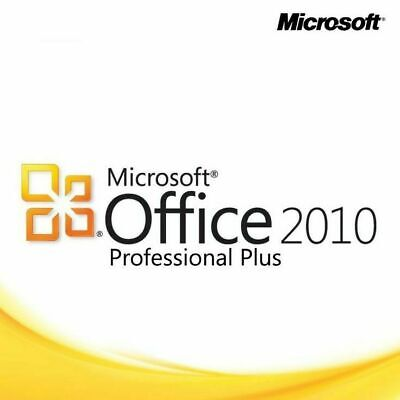 3PC 3PCs Microsoft Office 2010 Professional Plus x86 x64 32+64Bit Key + Download