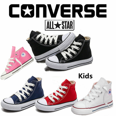 Kids Converse All Star Chuck Taylor High Hi Tops Trainers Pumps Boys Girls Shoes
