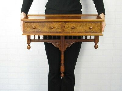 Vintage Console Shelf Wall in Wood with 2 Drawers Period Xx Century