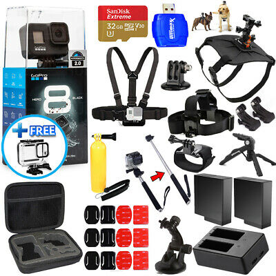 GoPro HERO8 HERO 8 Black All In 1 MEGA ACCESSORY BUNDLE for ALL Occasions NEW