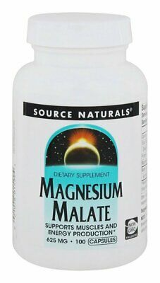 Source Naturals - Magnesium Malate Yielding 416.5 mg Malic Acid 625 mg. - 100