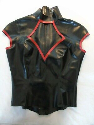 Libidex Latex Rubber Diamond Top Black New Fetish Gummi Cosplay Large 12 -  14