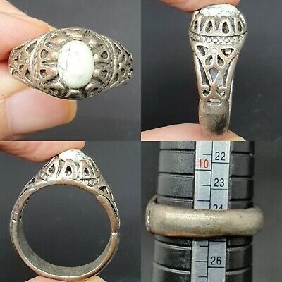 Beautiful old antique ring with wonderful white stone