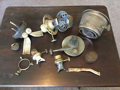 Job Lot, Oil lamp burners, Wright, Kenyon, Sherwoods, Primus, Aladdin. Railway.
