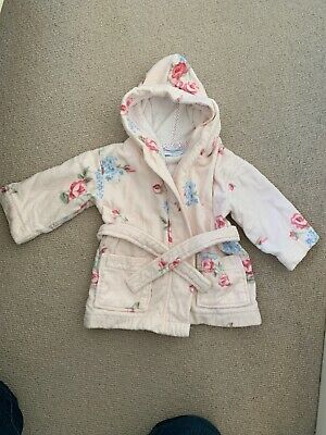 The Little White Company Baby Girls Dressing Gown Size 12-18 Months