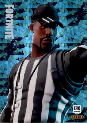 Fortnite Trading Card Nr. 143 - Striped Solider - Uncommon - Crystal Foil Parall