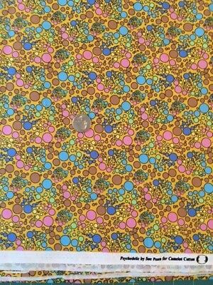 Psychedelic By Camelot Cotton Colorful Quilt Fabric, 8 Yards