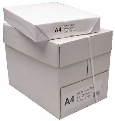 A4 Printer Paper 2 Boxes Containing 10 Reams of 500 sheets - 5000 pages total