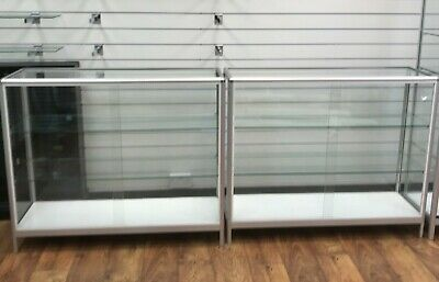 glass shop display cabinets x2