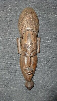 Fabulous Vintage Hand Carved Wooden African Friendship Tribal Mask!