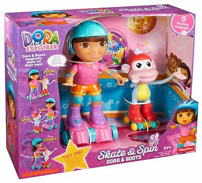 Fisher Price Nickelodeon Dora the Explorer SKATE & SPIN DORA & BOOTS - BRAND NEW