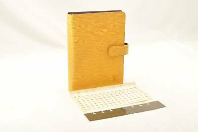 LOUIS VUITTON Epi Agenda MM Day Planner Cover Yellow R20049 LV Auth 11161