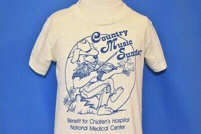 vintage 80s COUNTRY MUSIC SUNDAY BENEFIT CHILDRENS HOSPITAL t-shirt YOUTH MEDIUM