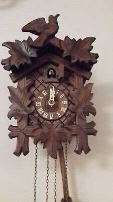 Vintage Wooden Small Cuckoo Clock  Working order. Bought in Bavaria in 1992