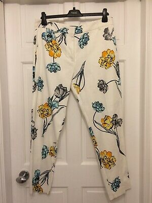 New River Island Floral Trousers Size 12