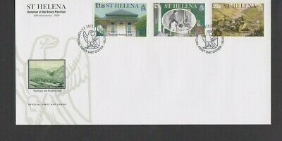 St Helena 2009 Donation of the Briars Pavillion FDC per scan