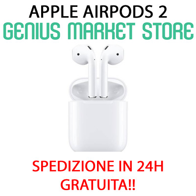Apple Airpods 2 2019 Nuovo Modello Wireless True Cuffie Sir Bianche (Mv7N2Ty/A)
