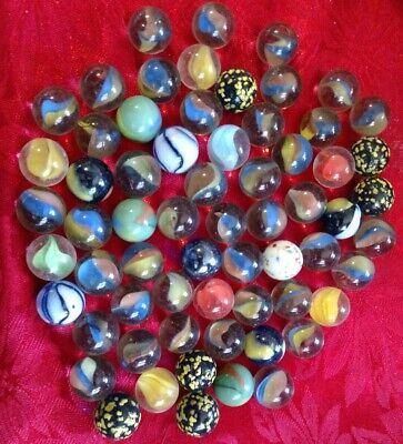 Lot Of 50+ Vintage Mix Marbles
