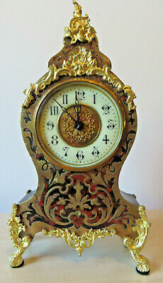 Antique French Boule clock, in excellent working order, C19th, Louis XVth style