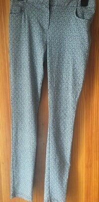 Girls Patterned Trousers New Look Age 11 Years Black & White Mono