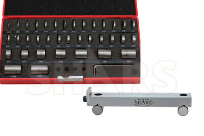 "SHARS 36 PCS STEEL ROUND GAGE BLOCKS GAGES SET + 1 x 6"" PRECISION 5"" SINE BAR"