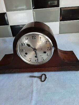WESTMINSTER CHIME MANTLE CLOCK NAPOLEON HAT  (GERMAN 1930s)