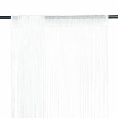 vidaXL 2x String Curtains 140x250 cm White Room Divider Window Door Background