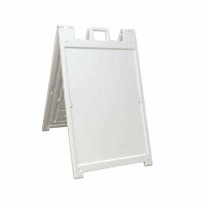 Plasticade Deluxe Signicade Double-Sided Sign Stand, White (Open Box) (4 Pack)