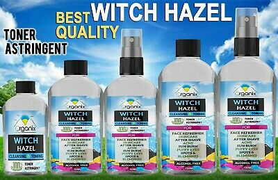 Witch Hazel - Pure Natural Distilled Alcohol Skin Toner Acne Cuts Bruise Eczema
