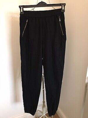 H&M Black Loose Fit Trousers Age 13-14 Years