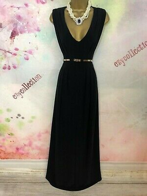 Phase eight elegant Black maxi long length dress Size 16 party/occasion